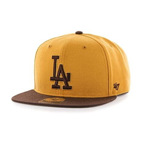 511d27a186e561 MLB Los Angeles Dodgers No Shot Two Tone '47 Captain Snapback Adjustable Hat,  Wheat