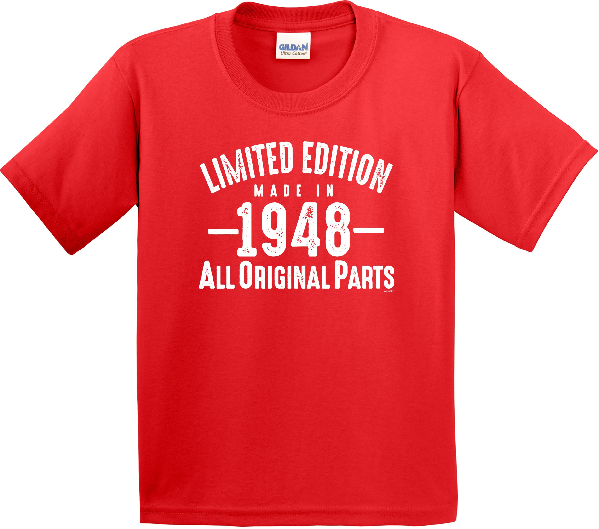 owndis Tee 70th Birthday Gifts Limited Edition Made In 1948 All Original Parts-1948-TEE-0070-L-Orange