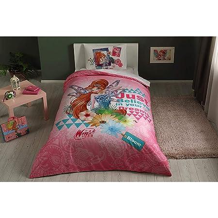 Copripiumino Winx.Winx Bloom Fairytale 100 Cotone Prodotto Con Licenza Set Da Letto