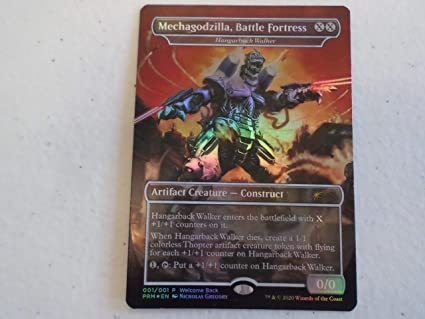 Mechagodzilla Battle Fortress MTG Hangarback Walker Foil Promo NM