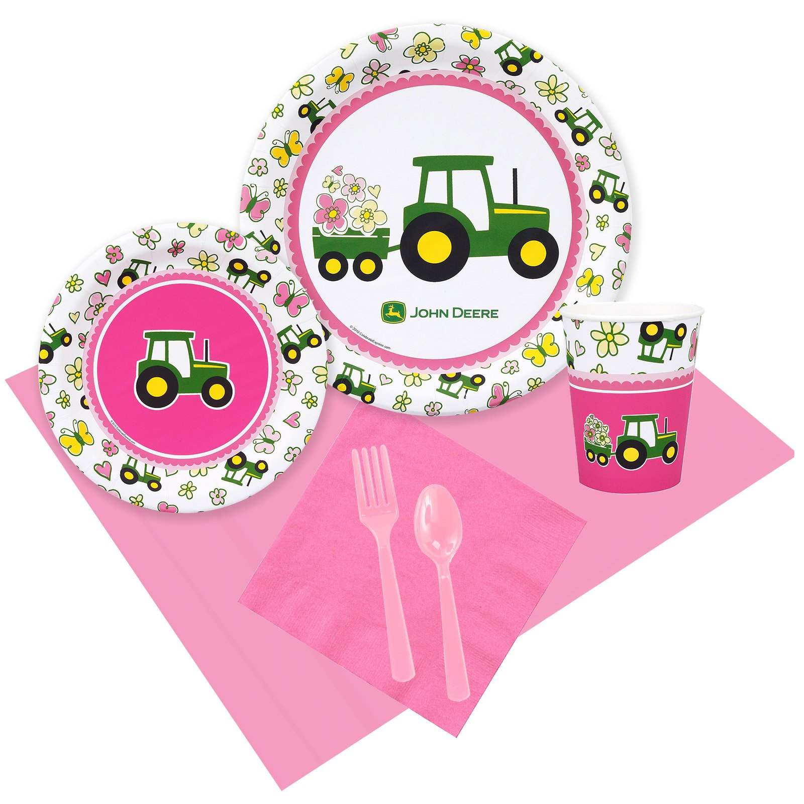 John Deere Pink 24 Guest Party Pack