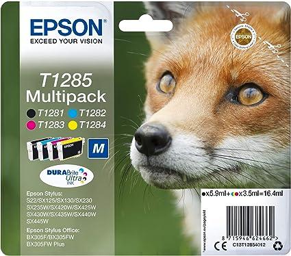 Epson C13T12854022 - Cartucho de Tinta, Multi-Pack (Negro, Amarillo, Magenta, Cian): Epson: Amazon.es: Oficina y papelería