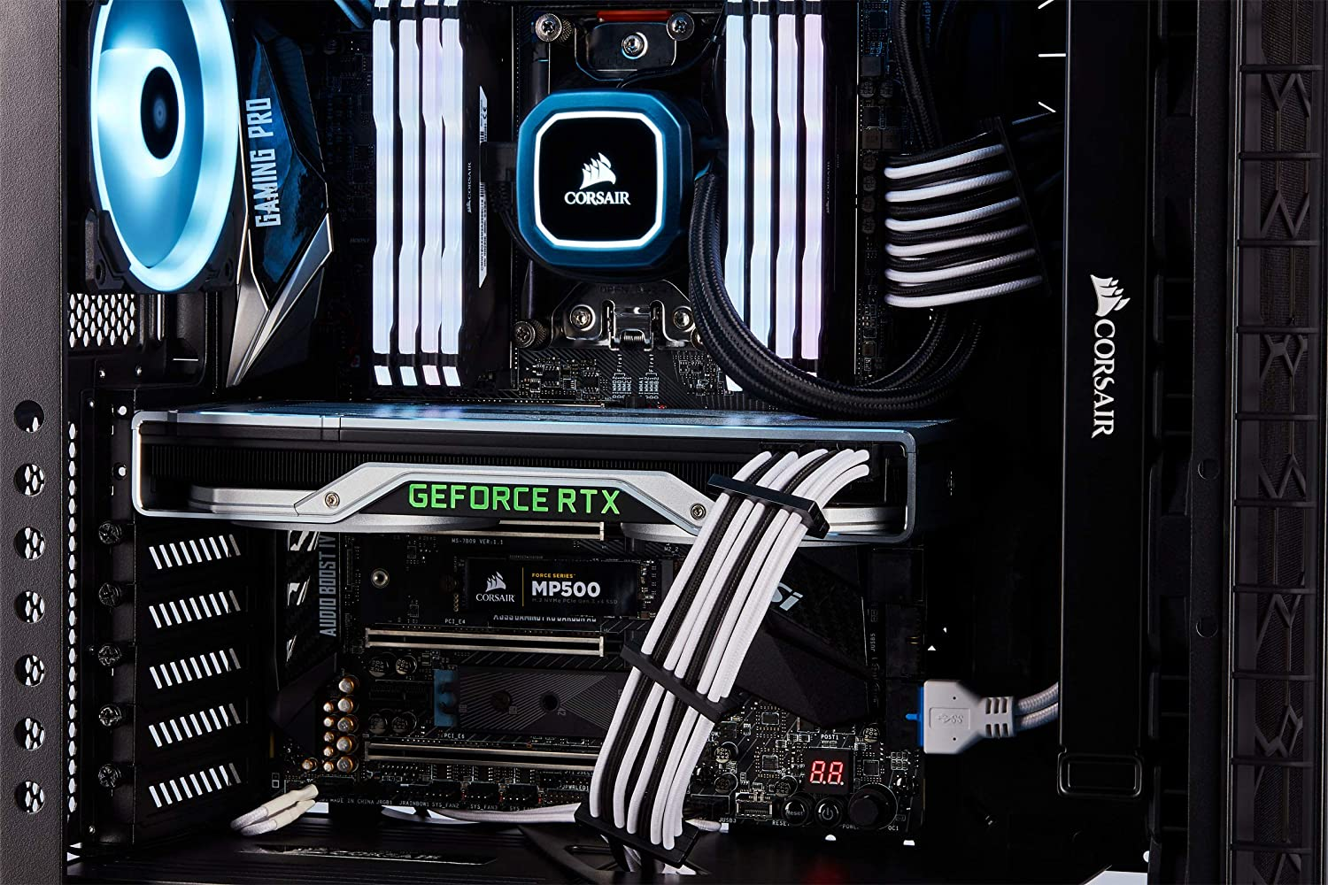 Single Connector CORSAIR Premium Individually Sleeved PCIe 2 Yr Warranty White Cables for Corsair PSUs