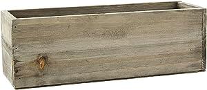 "AC Decor Rectangular Wooden Planter Box, 12"""