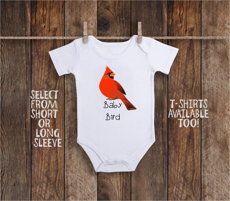 Funny Baby Bird Cardinal Toddler Kids Tee Shirt or Baby Bodysuit from Heaven Grandma and Grandpa