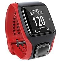TomTom Runner Cardio - Reloj con GPS para correr, color negro/rojo