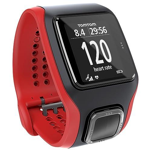 Montre GPS TomTom Multi-Sport Cardio Noir/Rouge (1RH0.001.01)