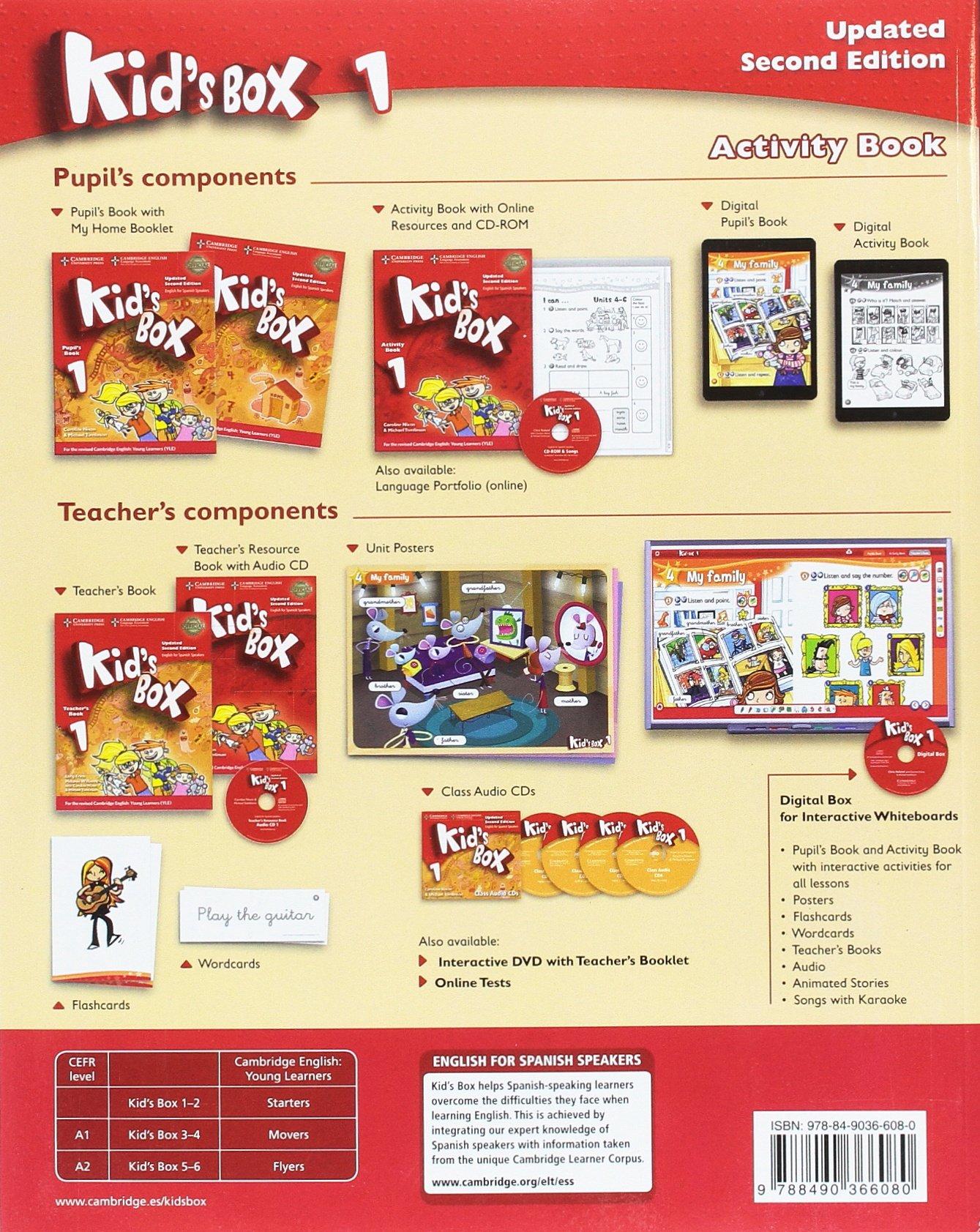 Kid's Box Level 1 Activity Book with CD-ROM Updated English for Spanish  Speakers: Amazon.co.uk: Caroline Nixon, Michael Tomlinson: 9788490366080:  Books