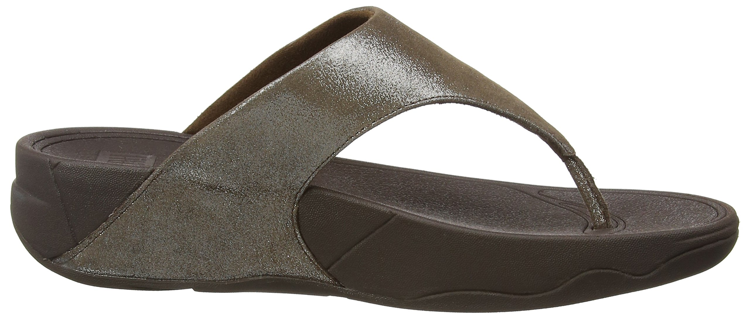 FitFlop Women's Lulu Shimmersuede Flip Flop, Bronze, 9 M US by FitFlop (Image #7)