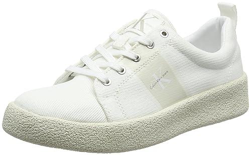 f350fd1eba2d83 Calvin Klein Jeans Gala Twill, Scarpe da Ginnastica Basse Donna, Bianco  (Ofw 000