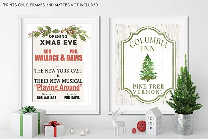 White Christmas Lyrics.Amazon Com White Christmas Movie Set Set Of 2 Holiday