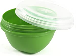 Preserve Apple Green 25 Ounce Eco Friendly Large Round Food Storage Container, Set of 2