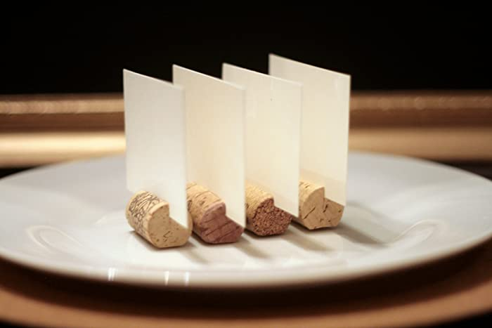 Amazon.com: Recycled Wine Cork Place Card Holders Set Of 50, Wine ...