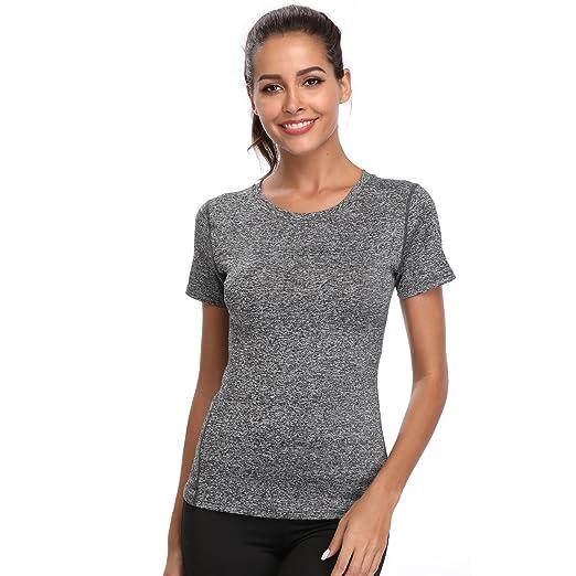 Joyshaper Training Top Damen Yoga Fitness Top T Shirt Quick Dry Kompression Sport Tanktop Sportshirt Trainingsshirt Shirt T-S