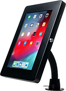 CTA Digital: Premium Security Gooseneck Tabletop Mount with Steel Enclosure for iPad 10.2-Inch (7th & 8th Gen.), 11-Inch iPad Pro, iPad Gen. 6 (2018), and More, Black