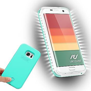 Urcover® Funda con Luz para Selfies Smartphone Case | Samsung Galaxy S7 Edge | LED Intensidad Regulable in Verde | Cover Carcasa Iluminada: Amazon.es: Electrónica