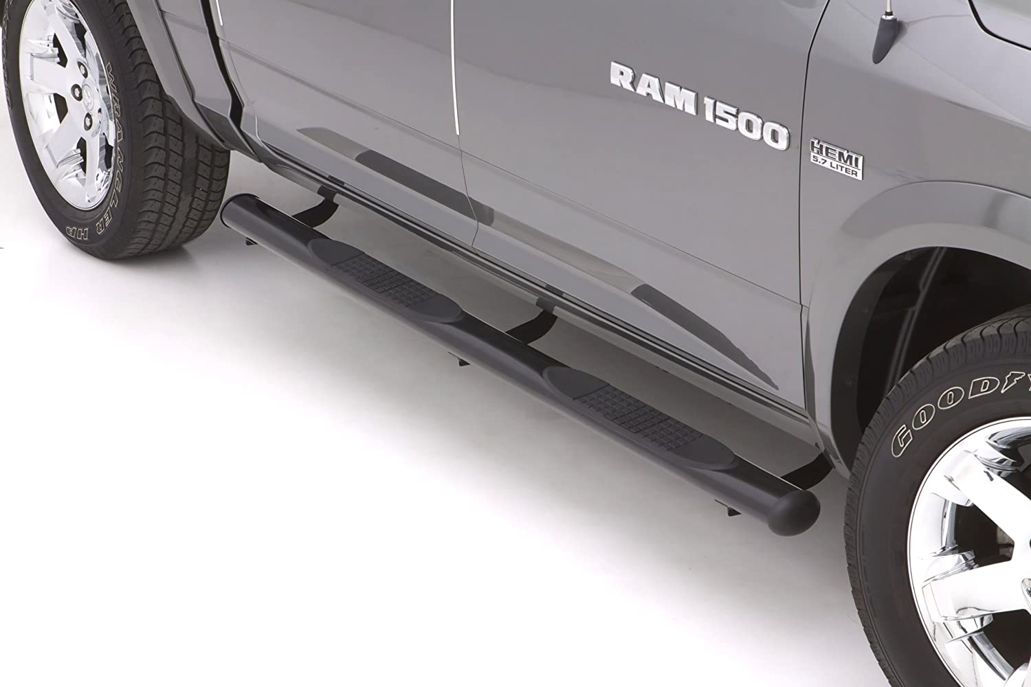 Lund 23575413 Polished Stainless Steel 4 Oval Straight Nerf Bars for 1999-2004 Ford F-150 SuperCab