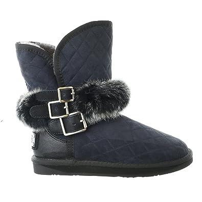 933c39a58505 Australia Luxe Collective Womens Hatchet Short Rabbit Fur Quilted Sheepskin  Winter Boot