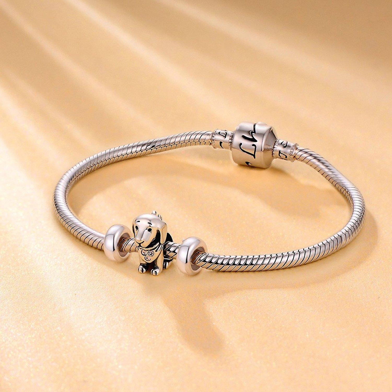 4b2448b50184 2 PCS 925 de plata de ley de goma del espaciadores tapón abalorios para  pulseras Pandora  Amazon.es  Joyería