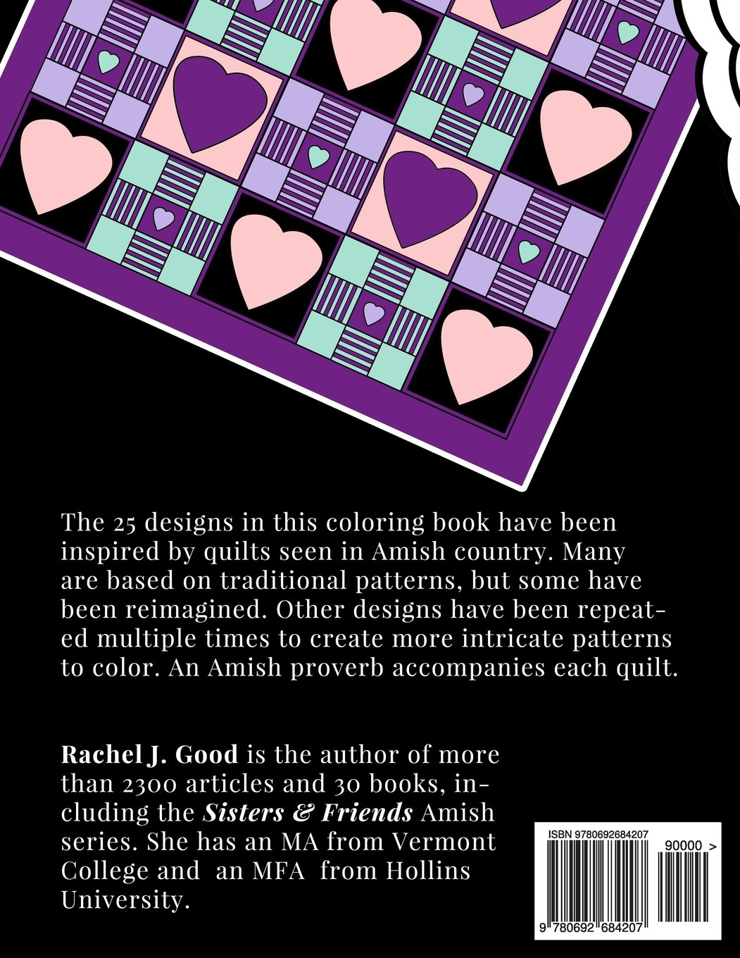 Amish Quilts Coloring Book (Amish Quilts and Proverbs) (Volume 1 ...