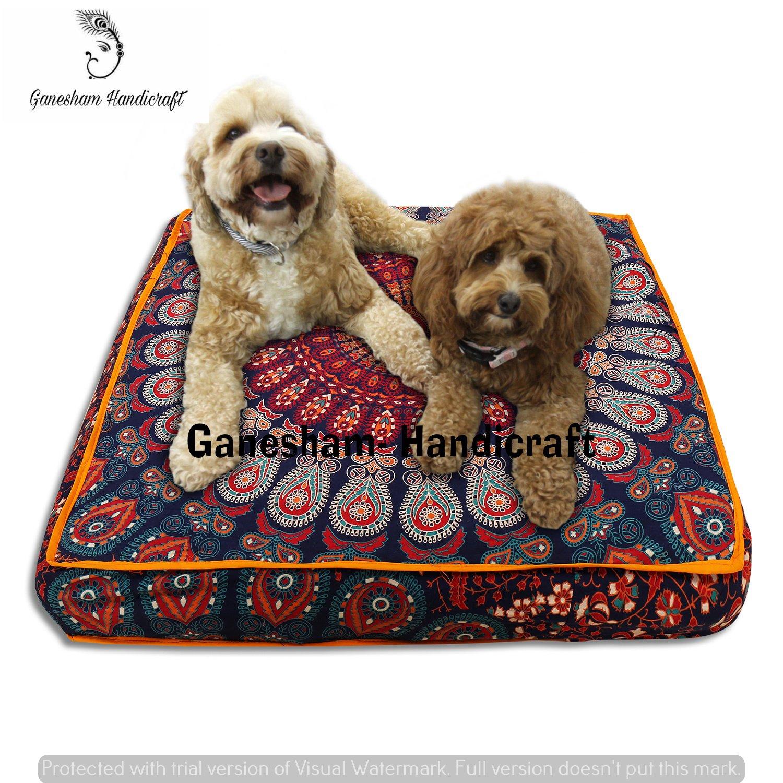 GANESHAM Indian Bohemian tapestry meditation cushion boho floor cushion handmade pillow insert boho seating pouf ottoman indian pillow shams boho mandala dog bed bohemian mandala floor pillow
