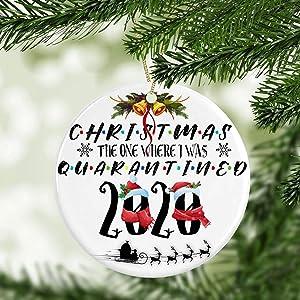 Cukudy 2020 Christmas Ornament, Santa Claus Xmas Ornament, Ornament, Mica Ornament, First Christmas Ornament, New Home ORN.