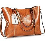 Women Ladies Casual Vintage Shoulder Bag Handbags Cross Body Bag Large Capacity Bags Brown JUNDUN