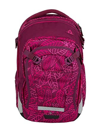 88799e43943e6 Satch Match - 3tlg. Set Schulrucksack - Purple Leaves  Amazon.de ...