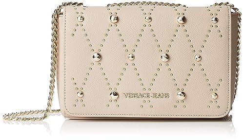 Versace Jeans Couture Bag, bolso bandolera para Mujer, Beige (Legno) 8x15.5x23 centimeters (W x H x L): Amazon.es: Zapatos y complementos
