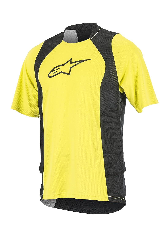 Acid Yellow Black Small Alpinestars Men's Drop 2 Short Sleeve Jersey