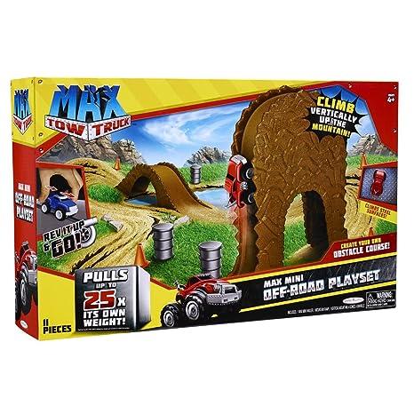 Amazoncom 24 Piece Max Tow Truck Max Mini Off Road Playset Toys