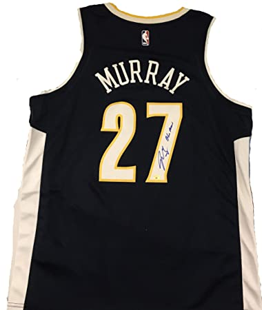 detailed look b1cfa 73fae Jamal Murray Signed Autographed Denver Nuggets Blue Nike ...