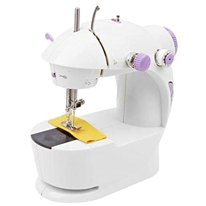 KIKI Multi Electric Mini 4 in 1 Desktop Functional Household Sewing Machine for Home