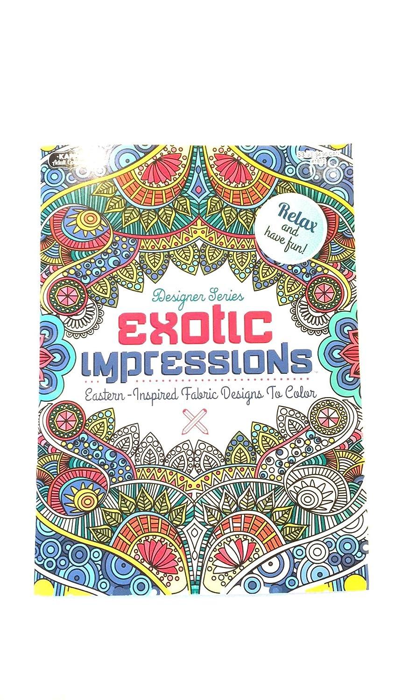 デザイナーシリーズエキゾチックImpressions大人用カラーリングブック B01HFDLC06