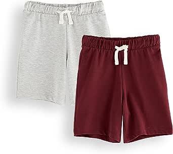 Marca Amazon - RED WAGON Pantalones Cortos Niños, Pack de 2