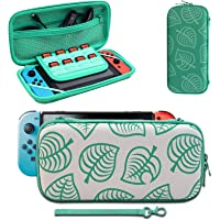 Carrying Case Compatible with Switch, [for Animal New Horizons Edition] New Leaf Crossing Design, Portable Travel Carry…