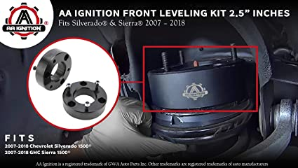 "Fits 2007-2018 Silverado /& Sierra AA Ignition Front Leveling Kit 2.5/"" Inches"