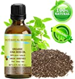 "ORGANIC CHIA SEED OIL. 100% Pure / Natural / Undiluted / Cold Pressed Carrier Oil for Skin, Hair, Lip and Nail Care. ""A remarkable and stable source of omega-3,6,9, B-vitamins and minerals."" 0.33 fl.oz-10ml."