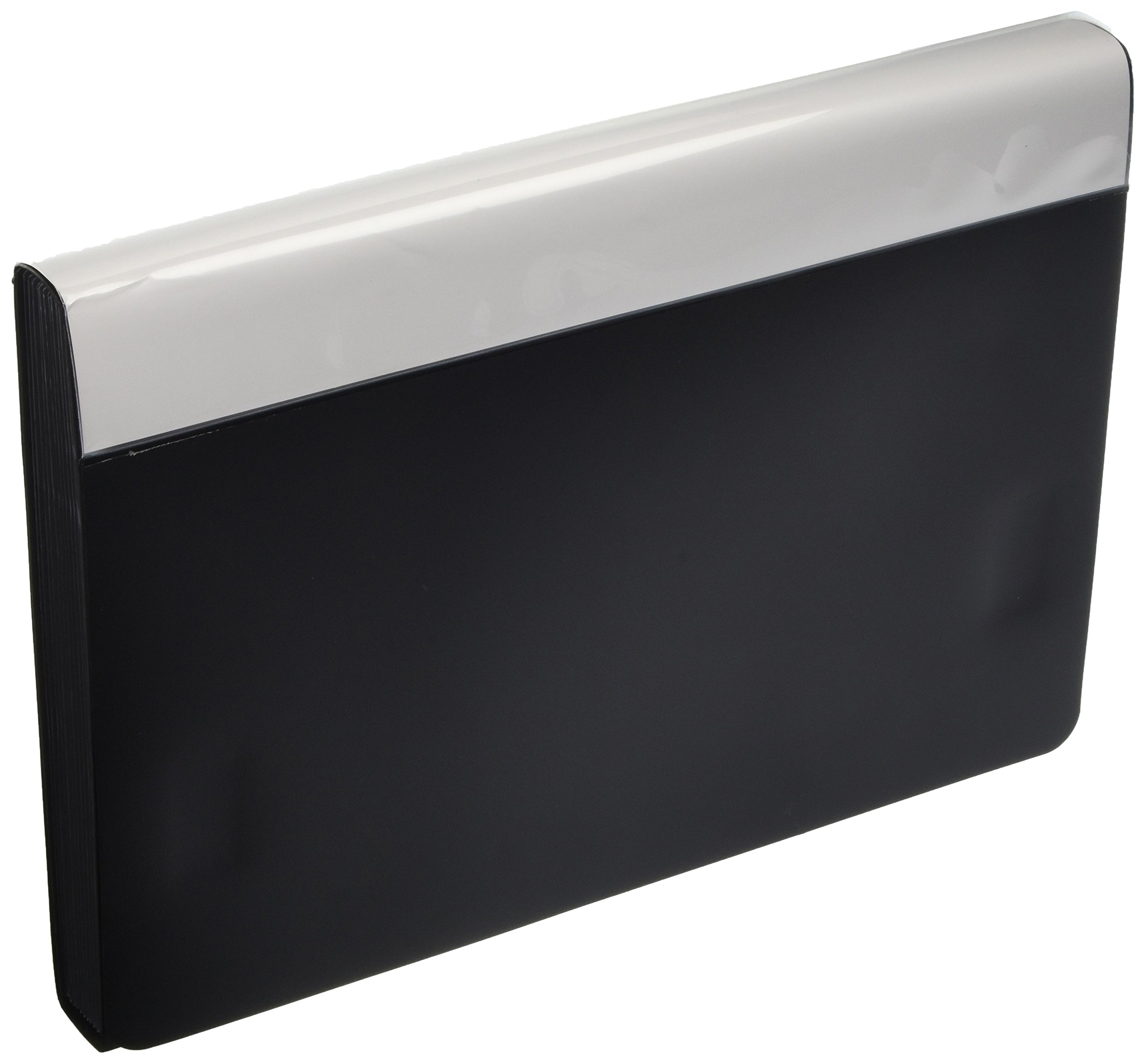 Pendaflex 82011 Poly Expanding File/Velcro Closure, 13-Pocket/Insertable Tabs, Letter, Black (82011)