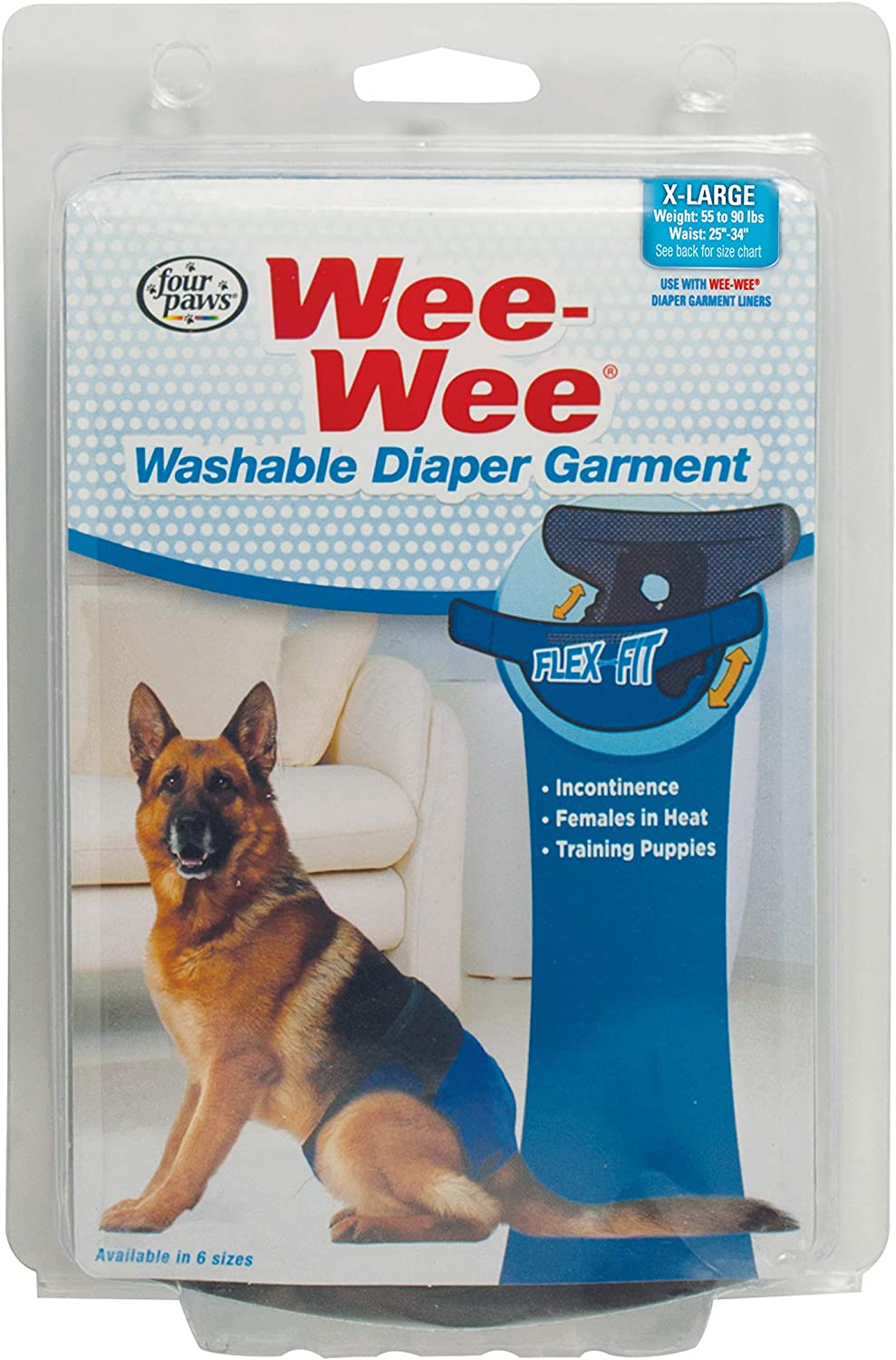 Four Paws Wee-Wee Washable Dog Diaper Garment