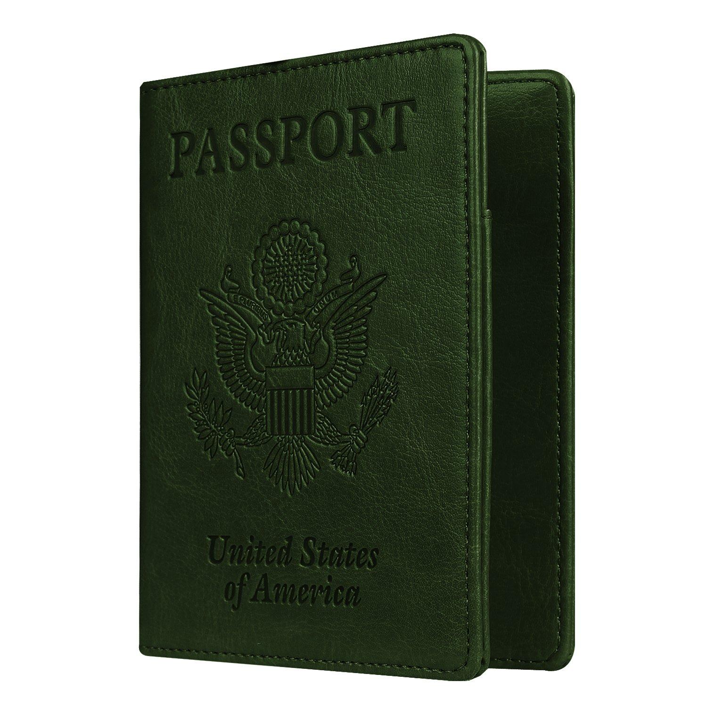 Famavala RFID Blocking Case Cover Holder Wallet for Passport PassportHABlue