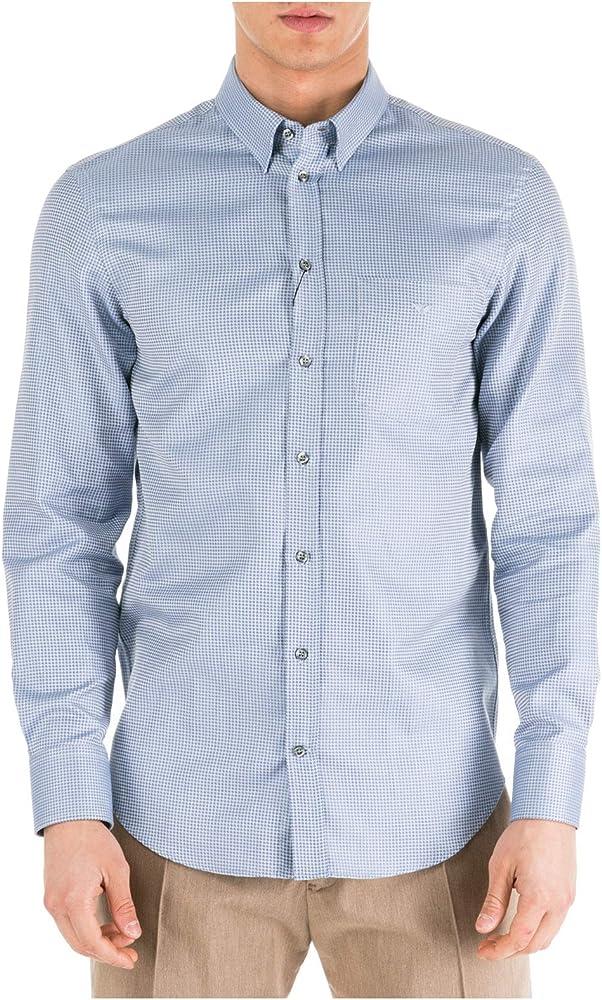 Emporio Armani Hombre Camisa Azzurro 40 cm: Amazon.es: Ropa y accesorios