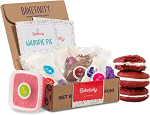 BAKETIVITY Kids Baking DIY Activity Kit - Bake Delicious WHOOPIE Pie with Pre-Measured Ingredients – Best Gift Idea for Boys and Girls Ages 6-12