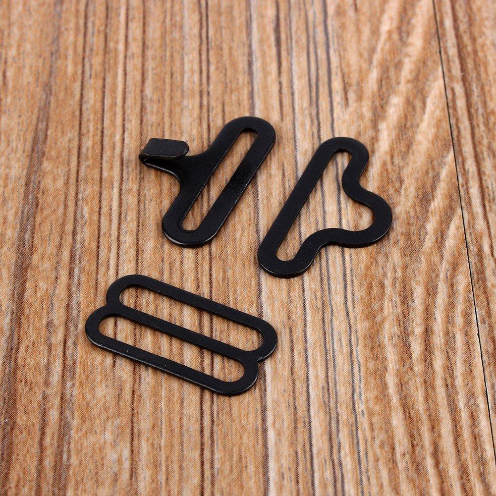 50 Sets Adjustable Metal Bow Tie Hardware Cravat Clip Hook Fastener Necktie Strap Silver Broco 50 Sets Bow Tie Hardware Clip Set
