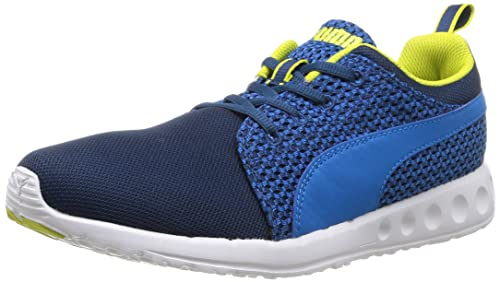 Puma Carson Runner Knit Mens Running Shoes Blue PoseidonCloisonne Sulphur