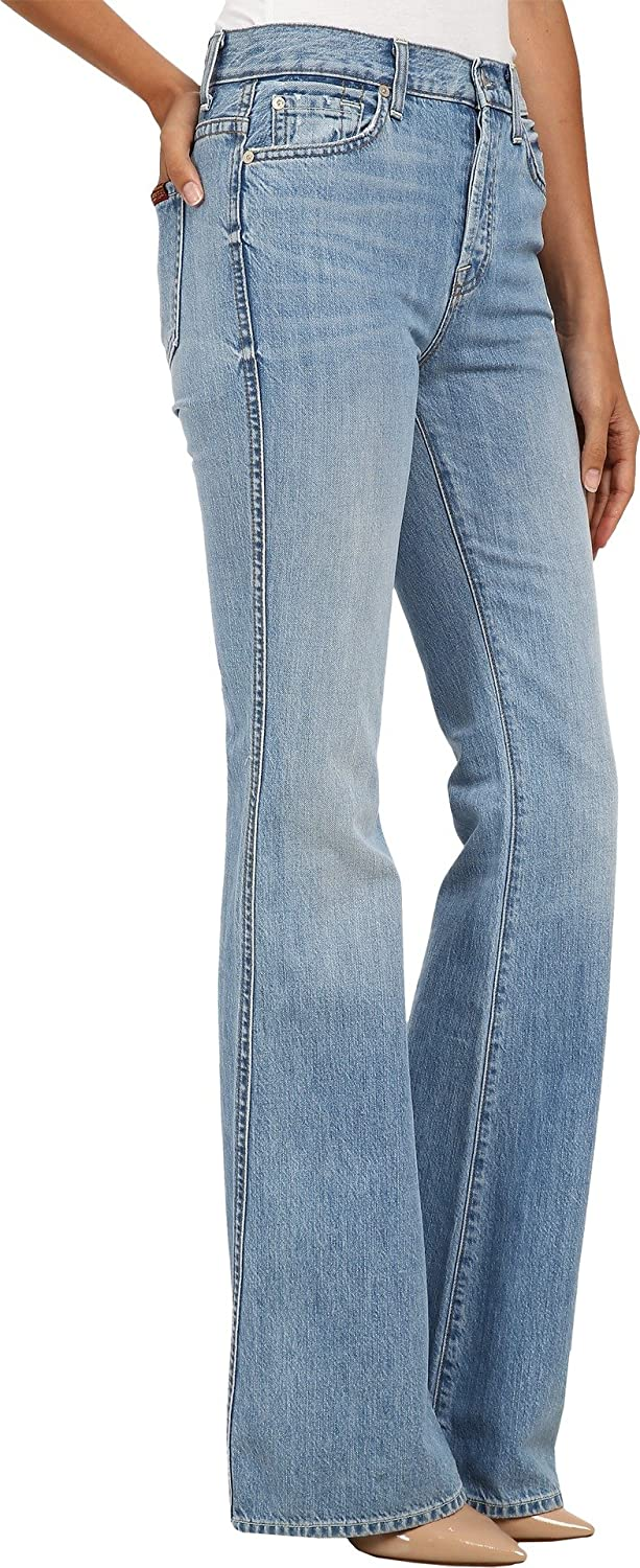 7 For All Mankind Women's High Waist Vintage Bootcut in Heritage Light Jeans 29 X 35