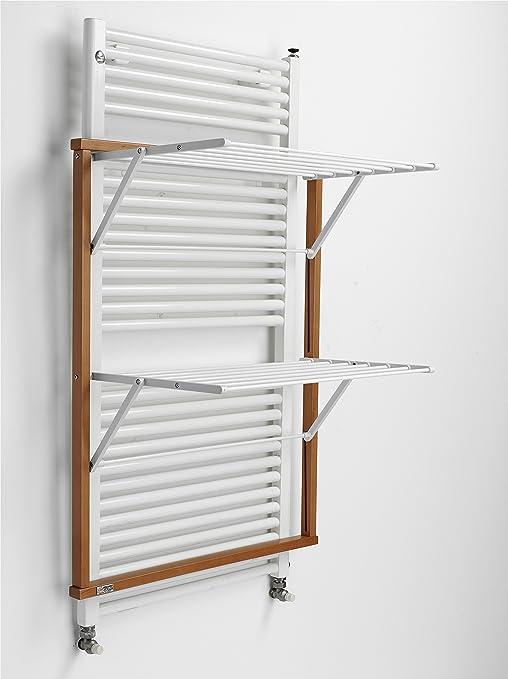 Arredamenti Italia Tendedero para radiador Klaus, Madera - Plegable - 10 m Extensibles - Color