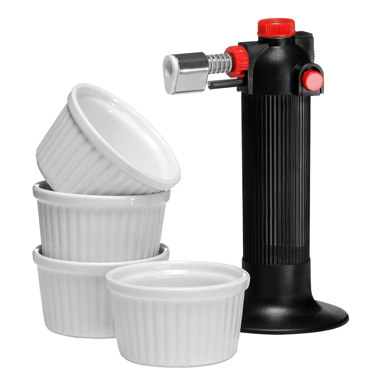 Premier Housewares - Juego de soplete de cocina y 4 ramequines 0806187