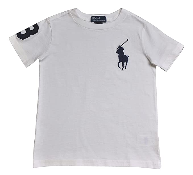 Bambino Big T Polo Lauren Shirt Maniche Pony Ralph 3 Colori Corte ZwqxIYnFA