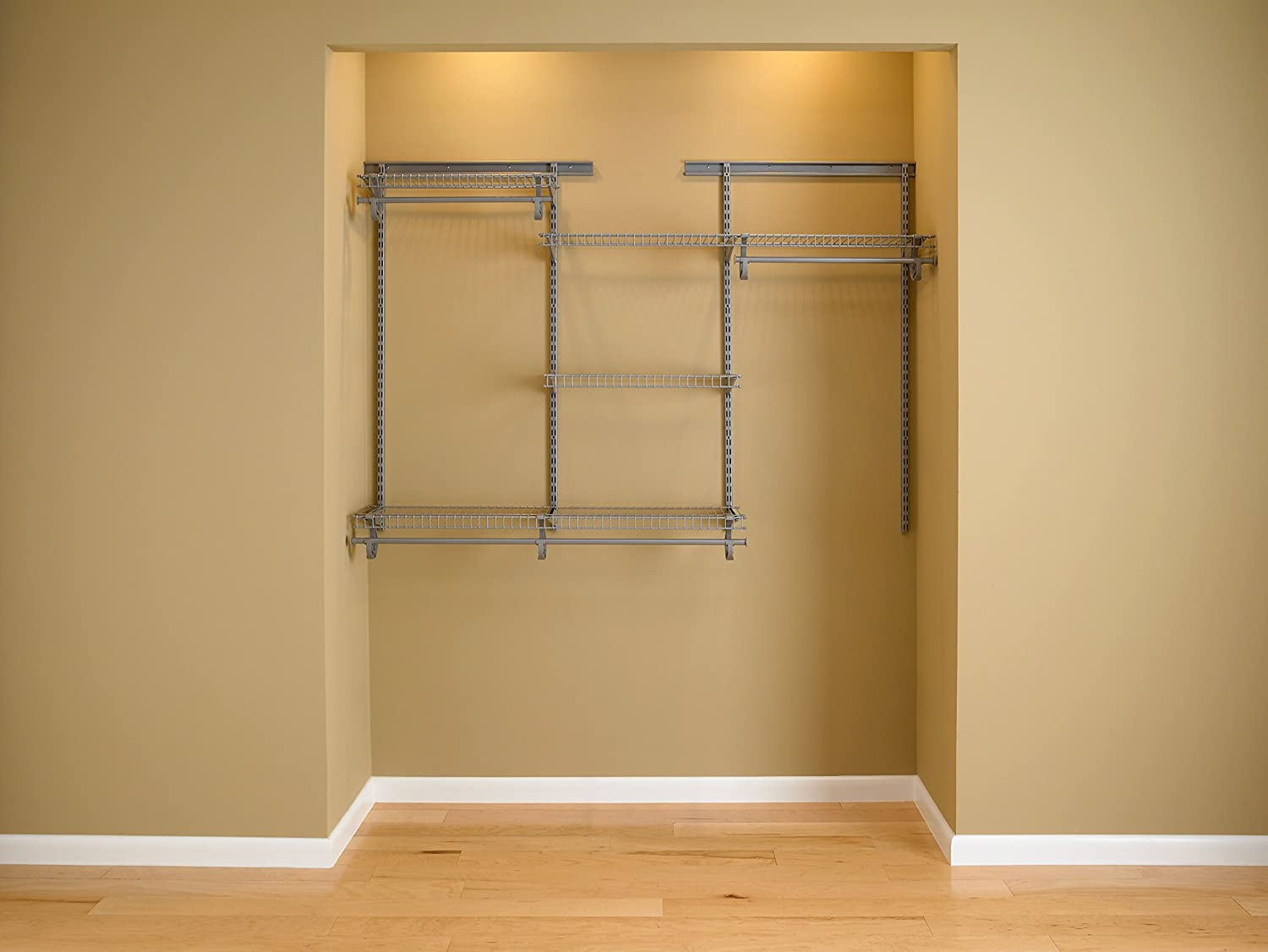 Beau Amazon.com: ClosetMaid 78808 ShelfTrack 4ft. To 6ft. Adjustable Closet  Organizer Kit, Satin Chrome: Home U0026 Kitchen